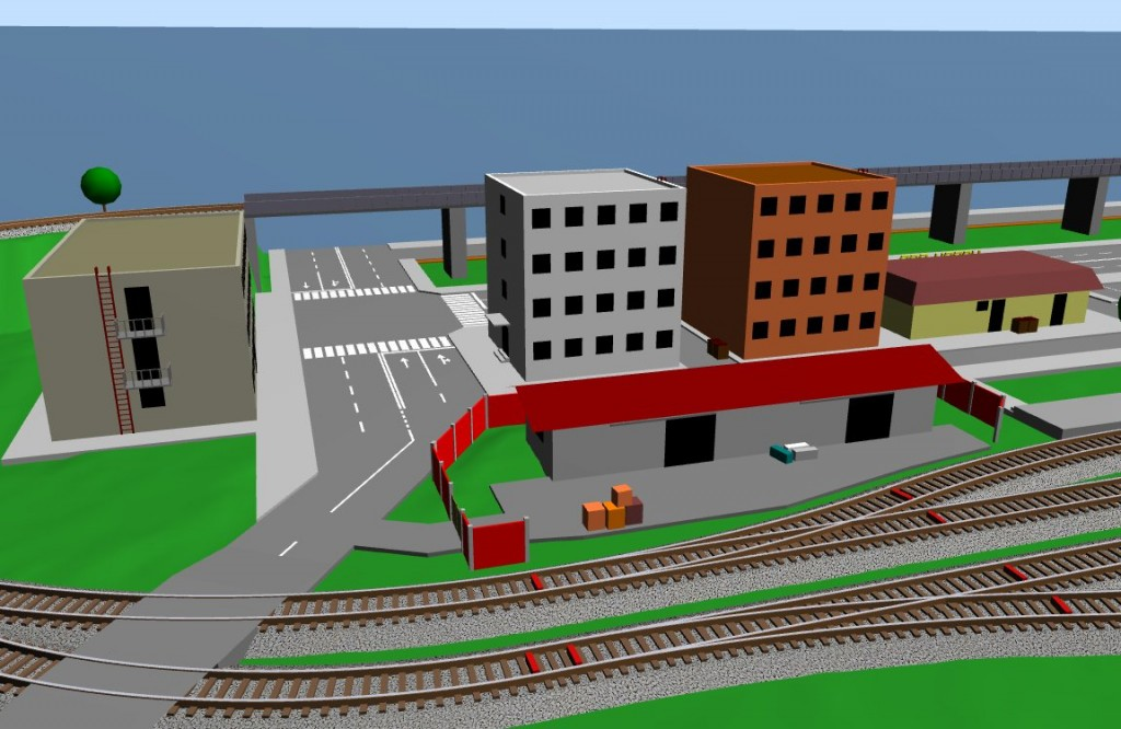 The storehouse and the office buildings scarm the for Office layout software