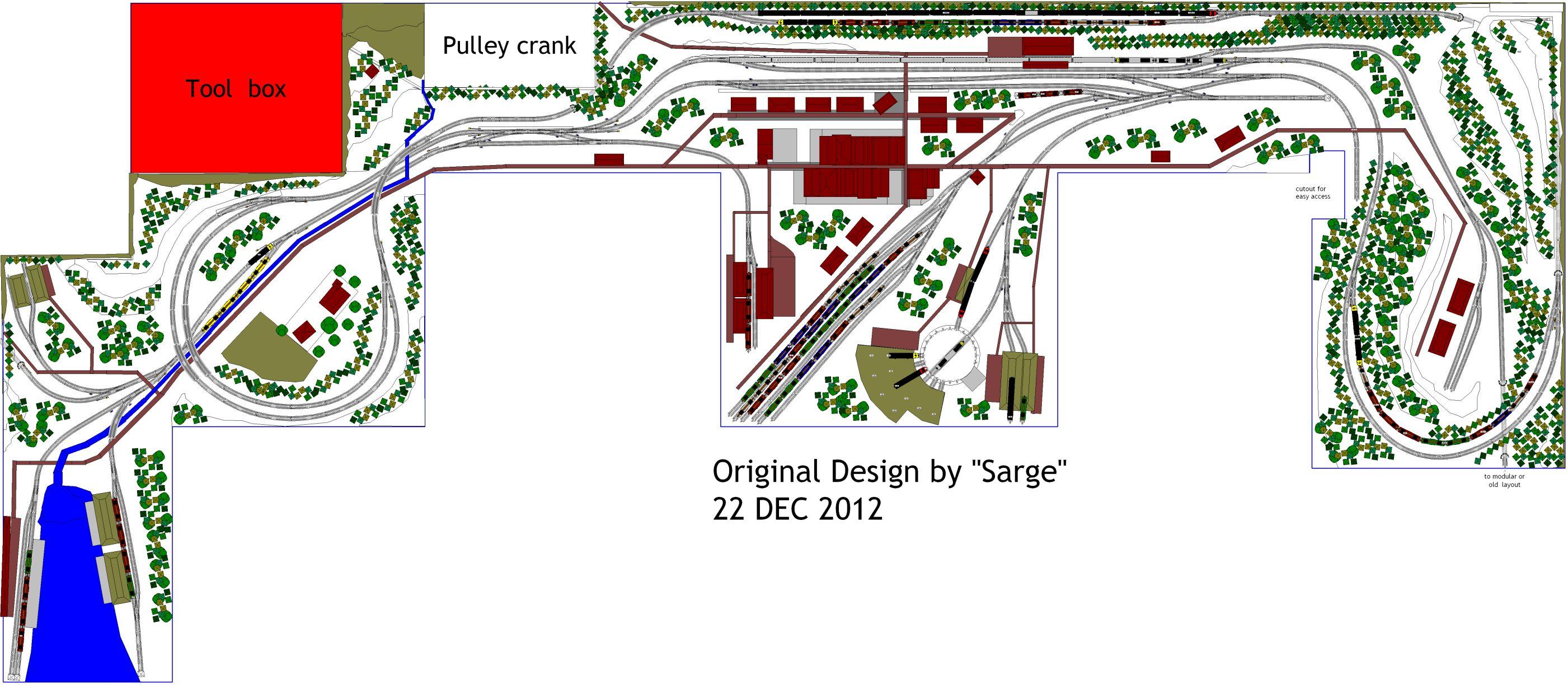Il layout in scala n del garage di sarge scarm il blog for Idee di layout di garage