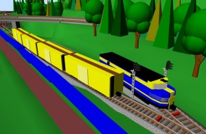 Sarge model train 1 on his layout in SCARM 3D Viewer