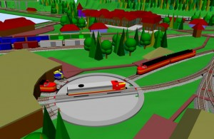 Sarge diesel model locos 3 on his layout in SCARM 3D Viewer