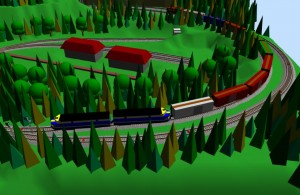 Sarge model train 4 on his layout in SCARM 3D Viewer