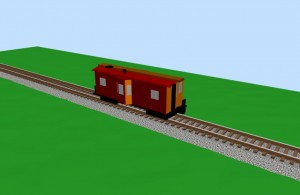 Bay window caboose - 3D