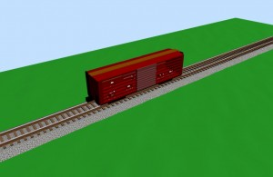 Cattle car - 3D (loaded)