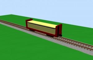 Lumber car - 3D