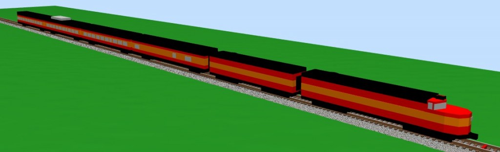 Southern Pacific Daylight with Alco PA/PB-1 - 3D