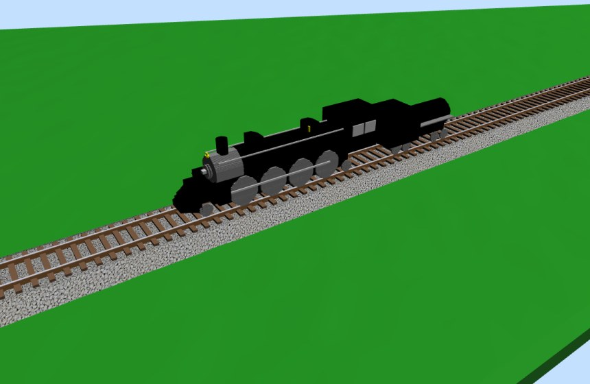 2-8-2 Steam locomotive - 3D