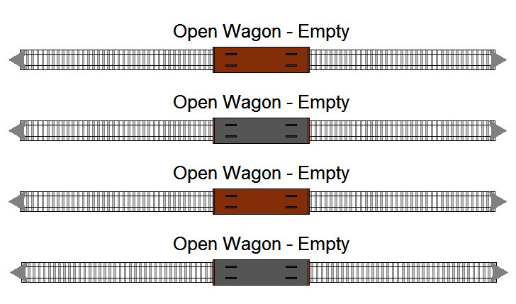 Open freight wagons (empty)