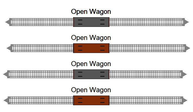 Open freight wagons  (loaded)