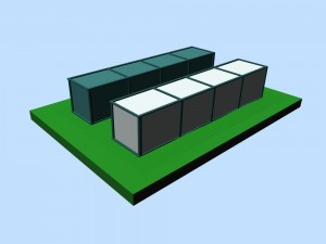 Couple of containers 3D
