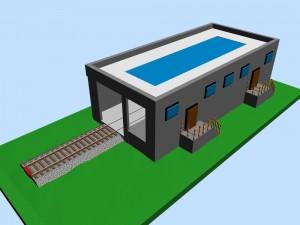 Modern loco service depot 3D