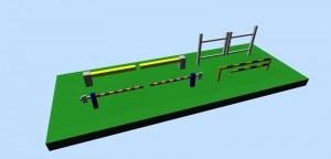 Various gates & barriers 3D