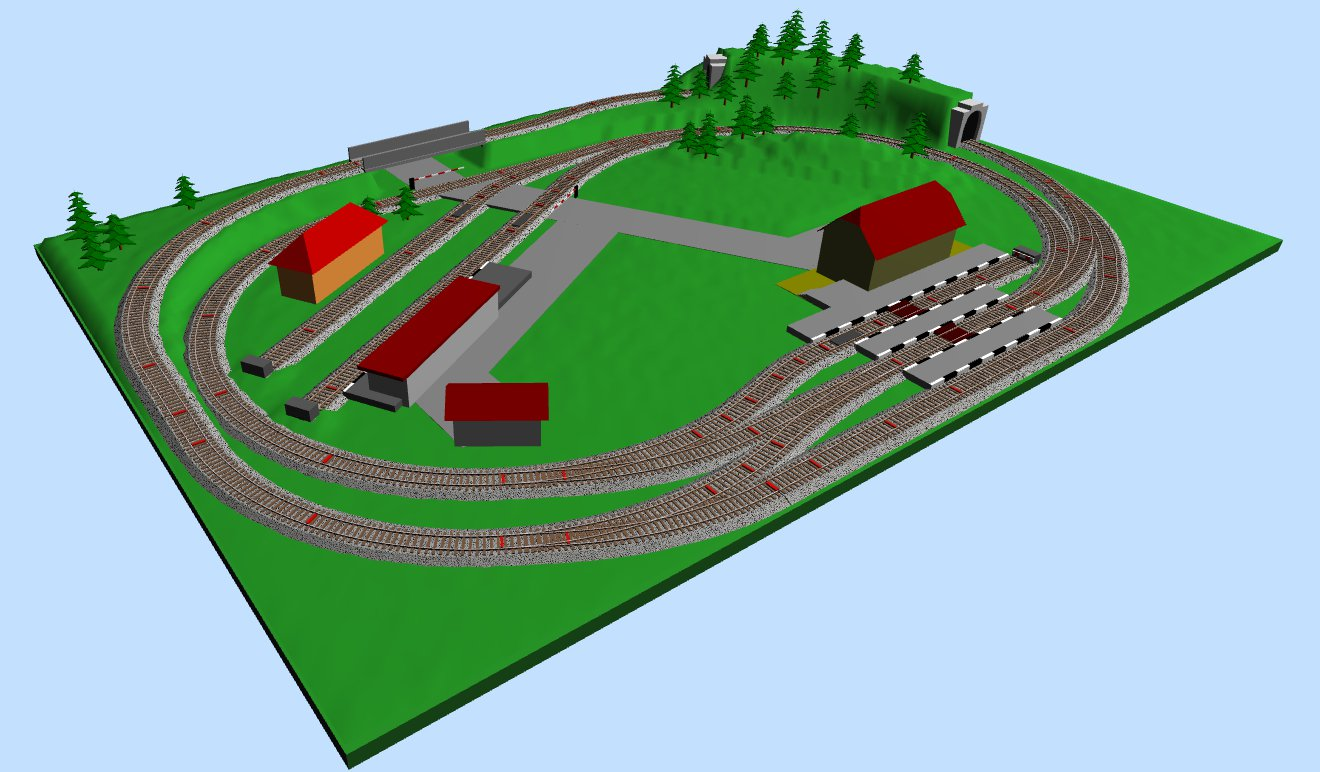 Model Train Track Plans of Micro Sized HO-scale Layouts