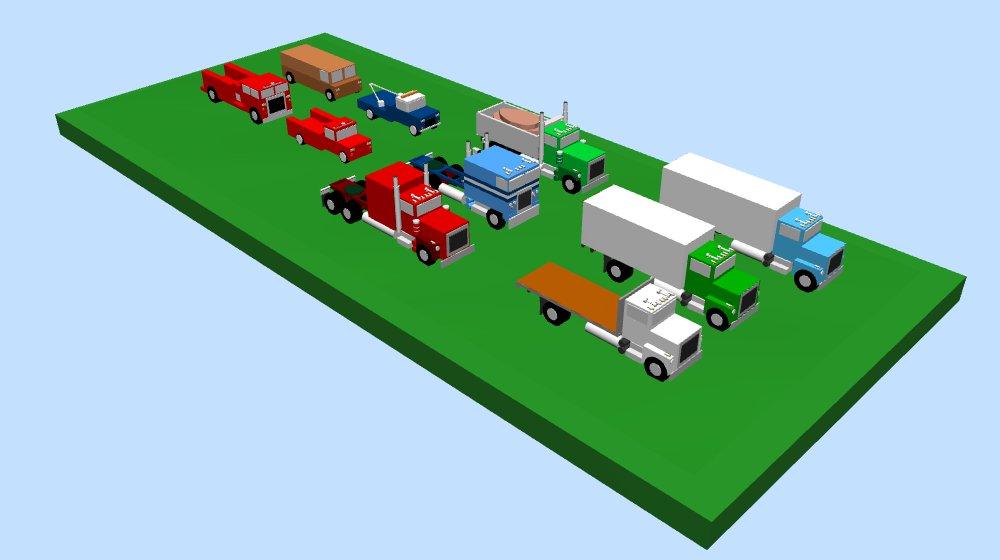 Various trucks & vans