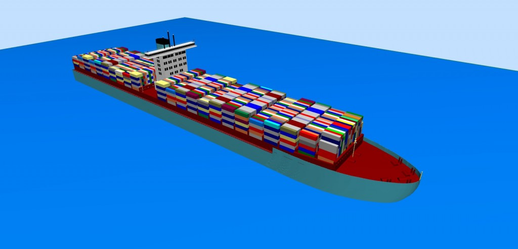 3D virtual model of Emma Maersk ship