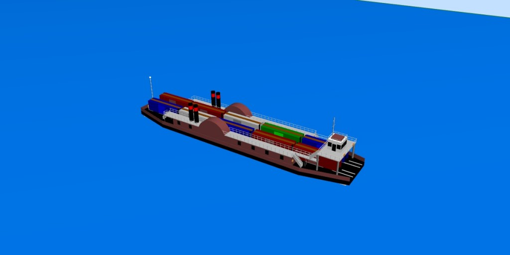 3D virtual model of Lansdowne Rail Ferry (loaded)
