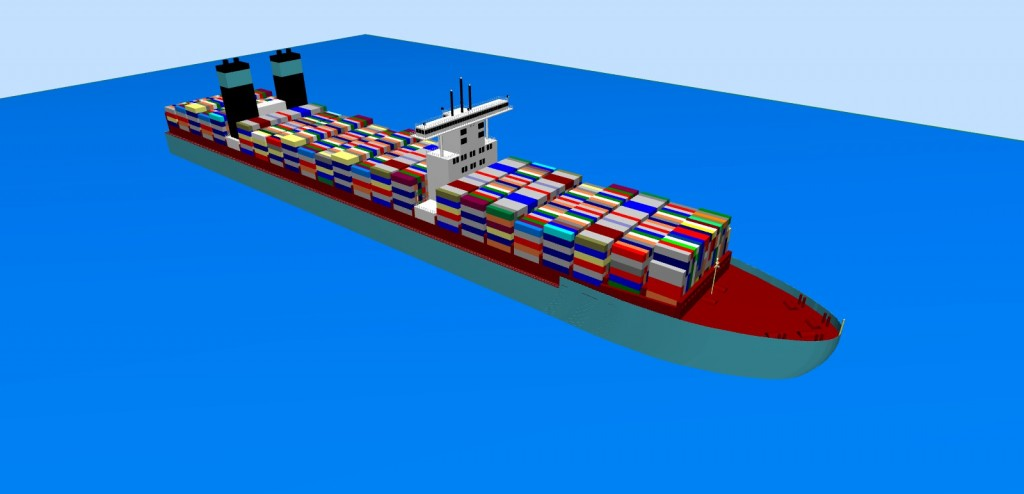 3D virtual model of Mc-Kinney Moller Maersk ship