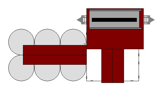 HO-scale Grain Elevator 2D