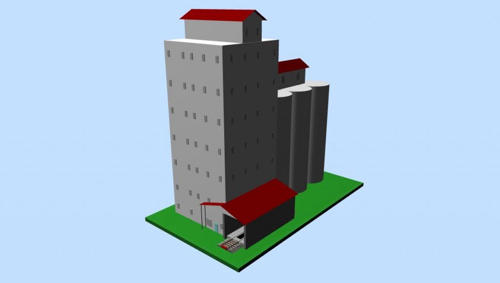 HO-scale Grain Elevator (3D image #3)