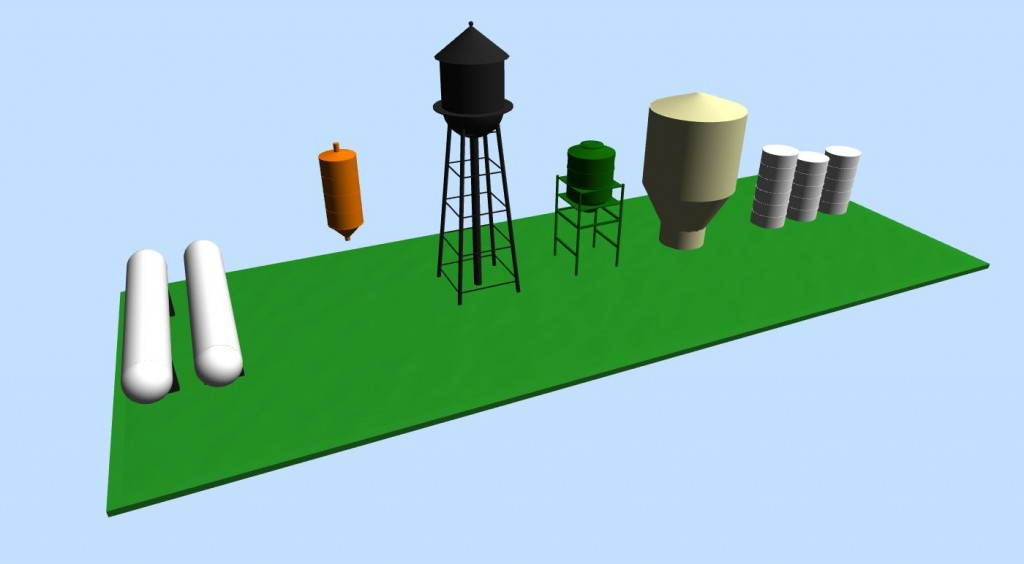 Fuel Tanks and Water Towers - 3D