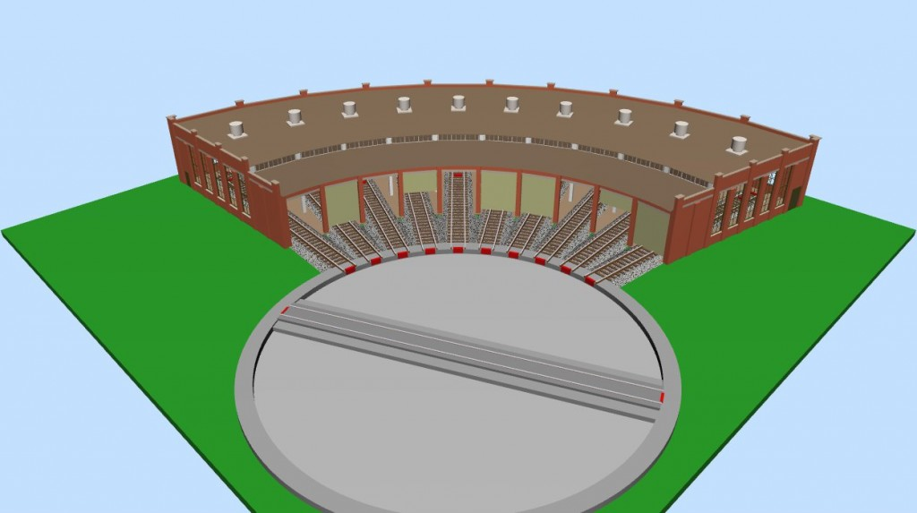The Scratchbuilt Roundhouse in N-scale (3D)