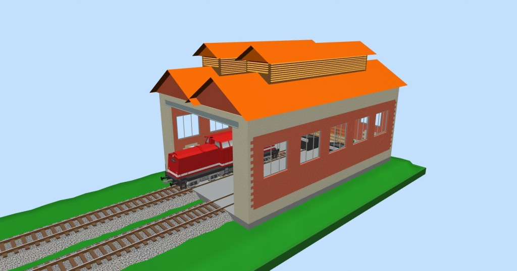 Depot for two engines