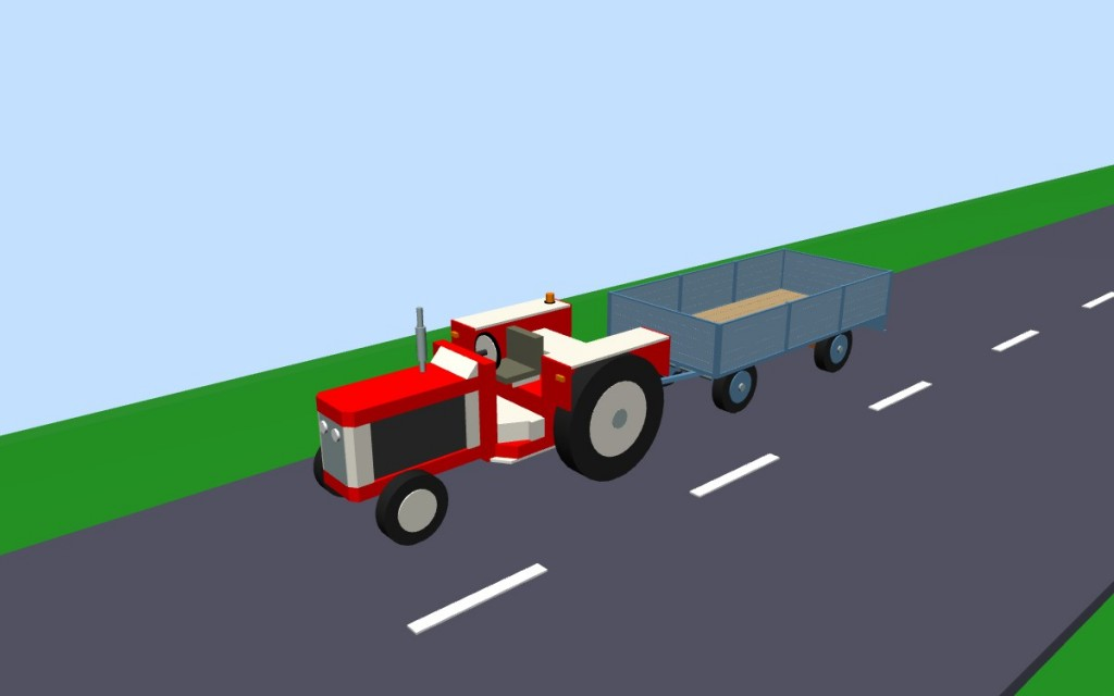 Тractor with trailer