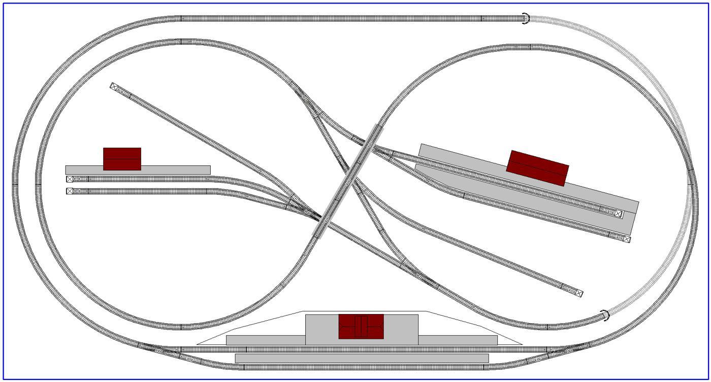 Complex N-gauge Layout with Fleischmann Tracks