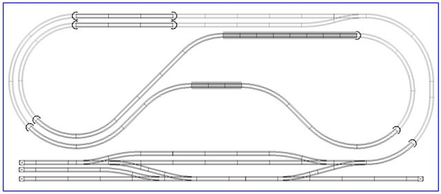 2x4 N scale layouts
