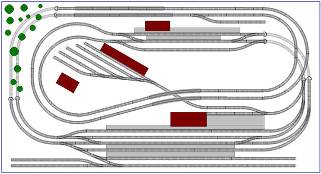 rectangle 4x8 N scale layout