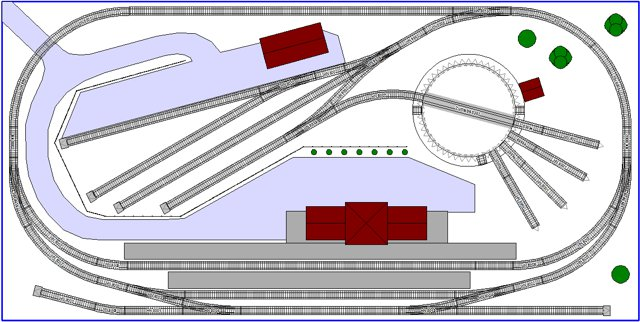 2x3 N scale Layout