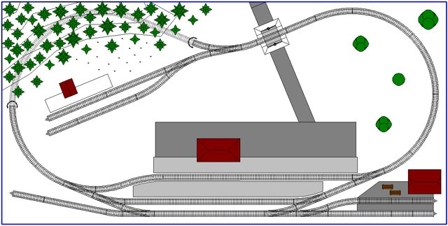Ultra Small 4 39 X 2 39 N Scale Track Plan 1