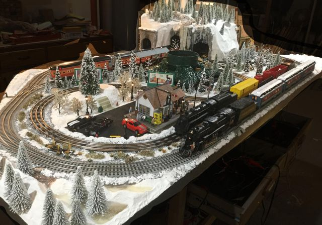 The Christmas Layout Of Ted In O Gauge