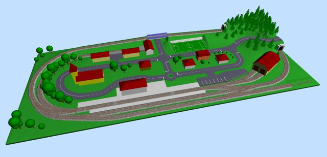 Small Village Ho Track Plan