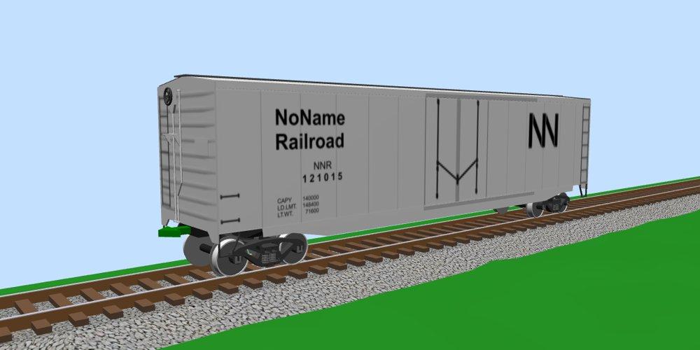 50ft Plug-door Boxcar of NNR, silver (set of 10)