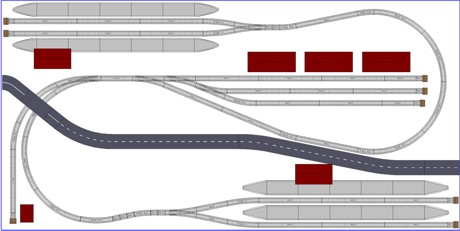 Model Train Layouts & Track Plans with Hornby tracks