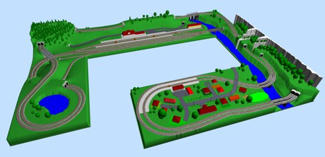 Model Train Layouts Track Plans With Piko Tracks Various Projects Designed With Scarm Layout Software