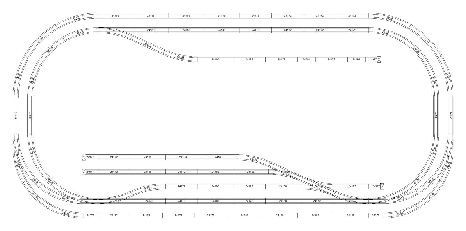 Marklin Ho C Track Plan 240x120 For Train Layout Wiring Diagrams Size