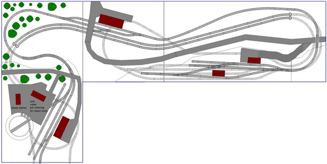 4x8 L shaped n scale layout