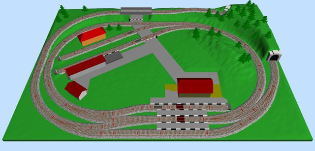 Small Ho Scale Layout 4 Two Ovals
