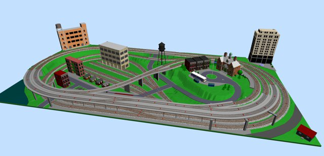 Metro Style Ho Layout With A Subway Station