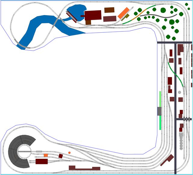 Southern Pine Railroad Layout In N Scale