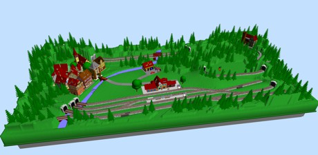 Model Train Layouts & Track Plans in N scale - Various